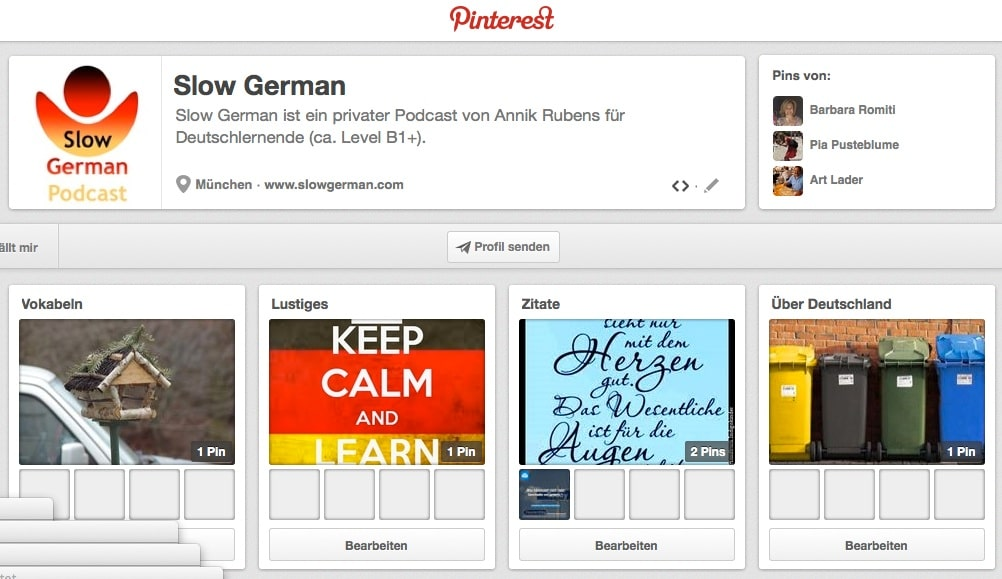 Jetzt auch auf Pinterest!