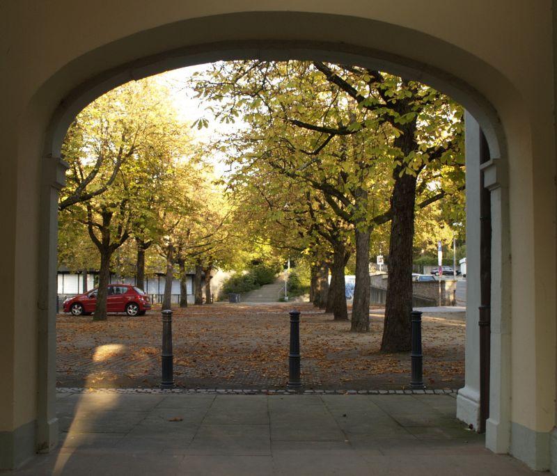 Herbst, die Blätter fallen.