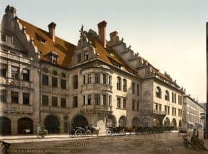 Das Hofbräuhaus auf einer alten Postkarte